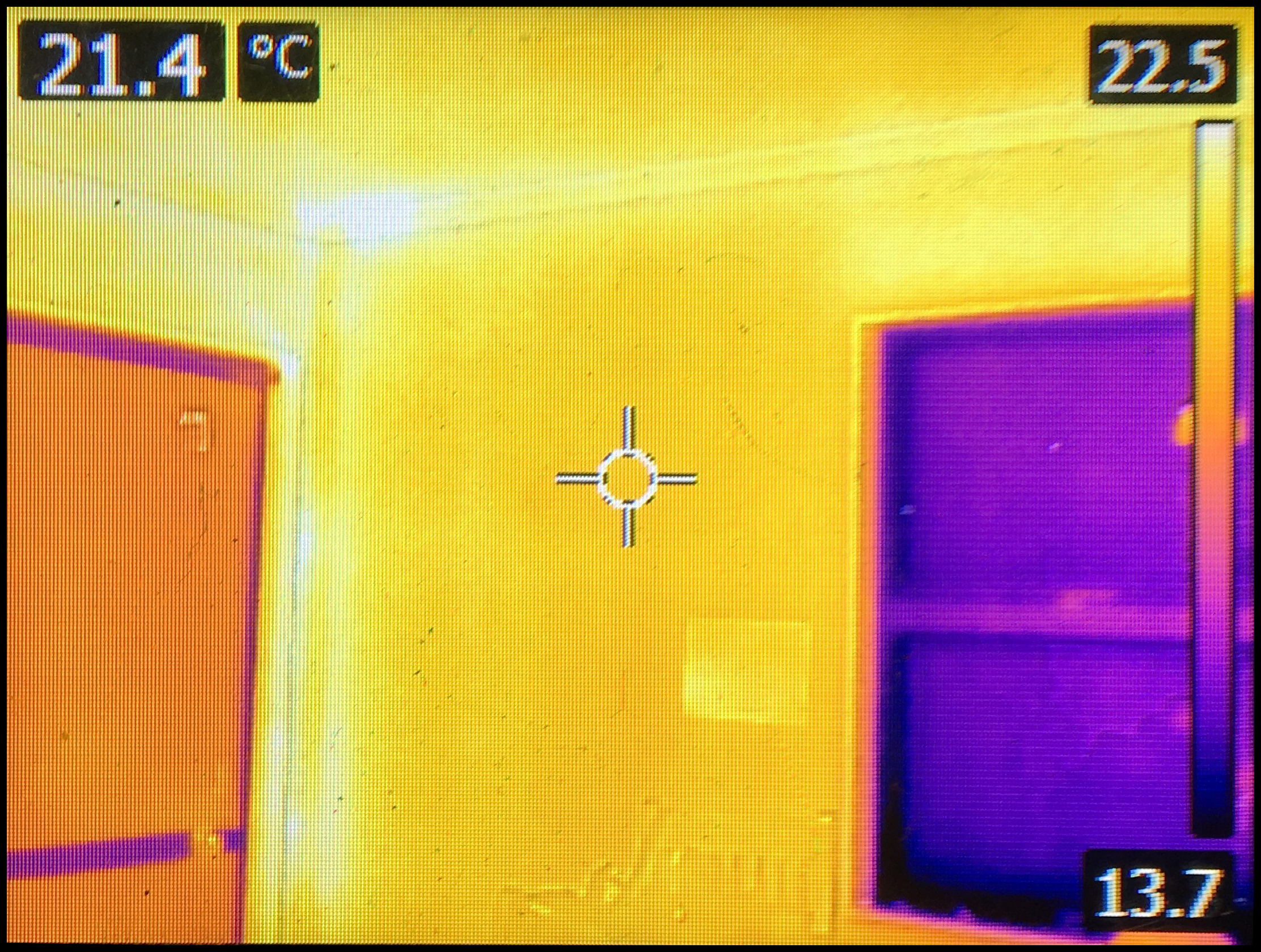 Easyfix window insulation seen by thermal image