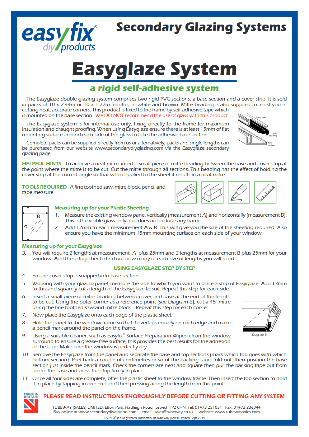 easyglaze secondary glazing pdf