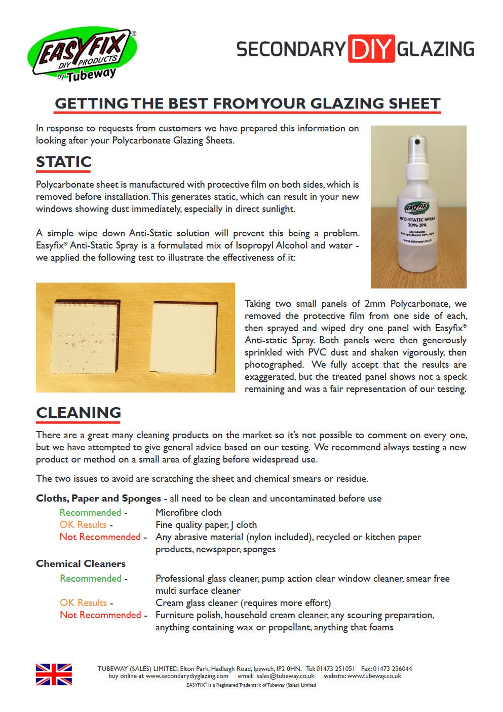 Static Cleaning PDF