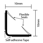 dimensions of easyfix acoustic and smoke seal