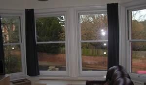 secondary glazing case study inside view