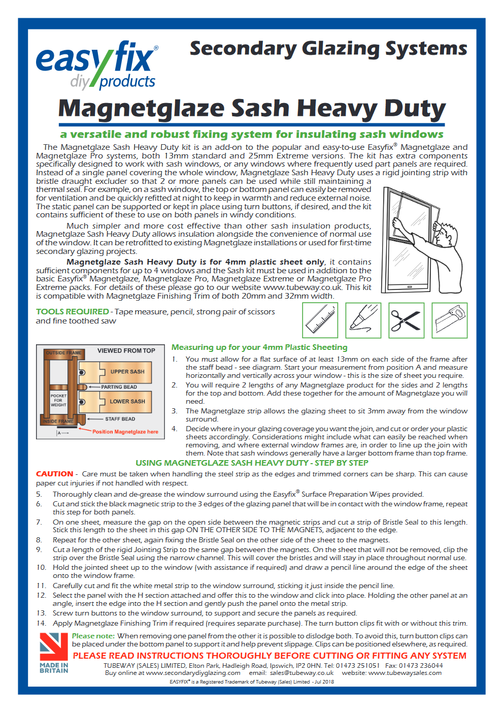 magnetglaze sash installation pdf
