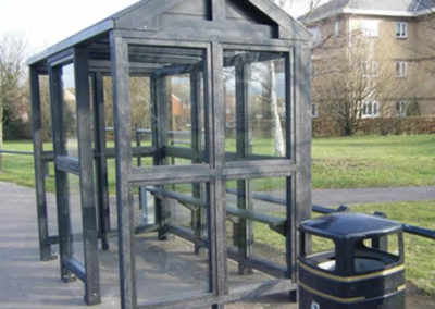 Vandal proof bus shelter in Suffolk