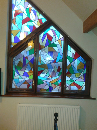 Stunning feature window using brown Superglaze. Thanks to Mike Booth