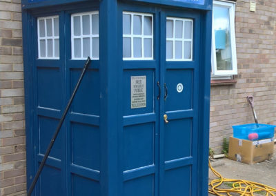 Grandson tired of waiting for the bus? Build him a Tardis. Thanks to John in Ipswich (or anywhere in the universe...)