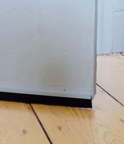 insulating the doorway when the door is closed