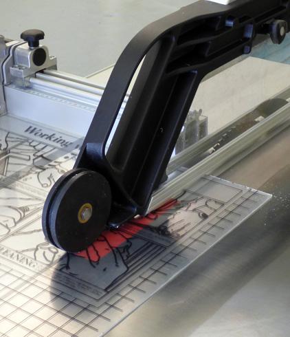 precision settings ensure accurate cut sheet sizes