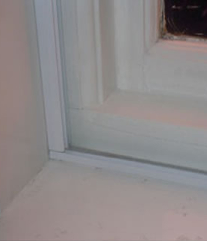 easyfix trackglaze sliding system installed in the window cavity