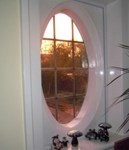 oval picture window needing secondary glazing