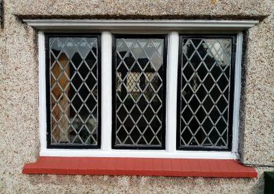 Lead lined window with Trackglaze hidden